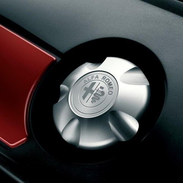 Giulietta Polished Aluminum Diesel Engine Oil Cap