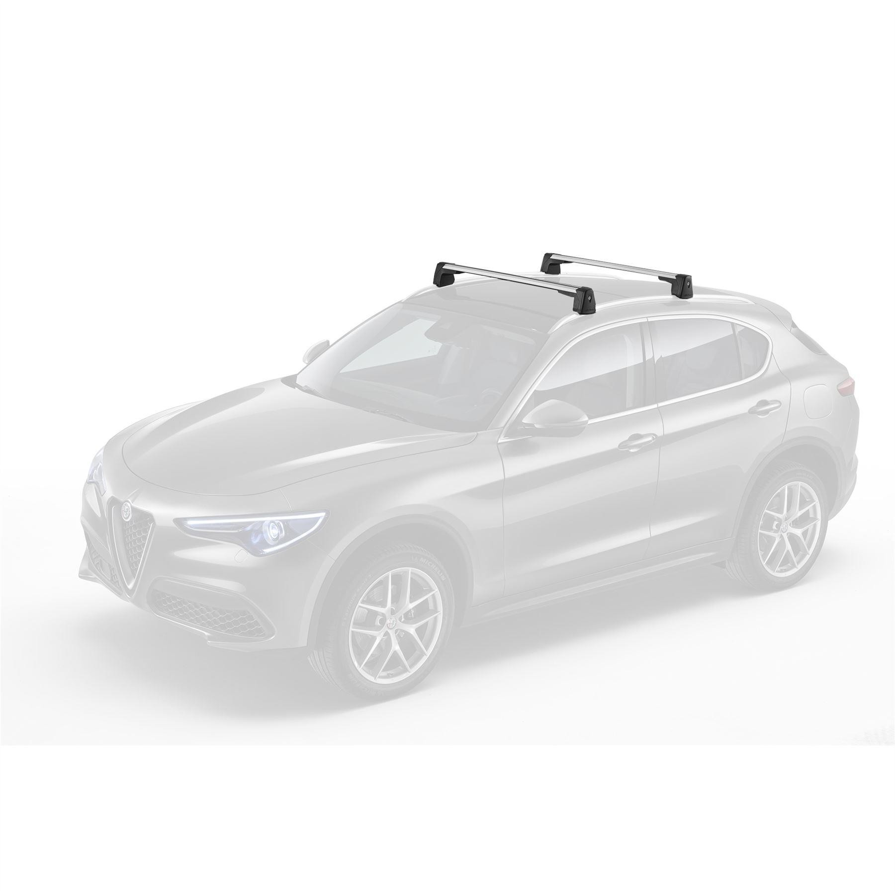 Stelvio Transport Cross Roof Bars - longitudinal Fit Only