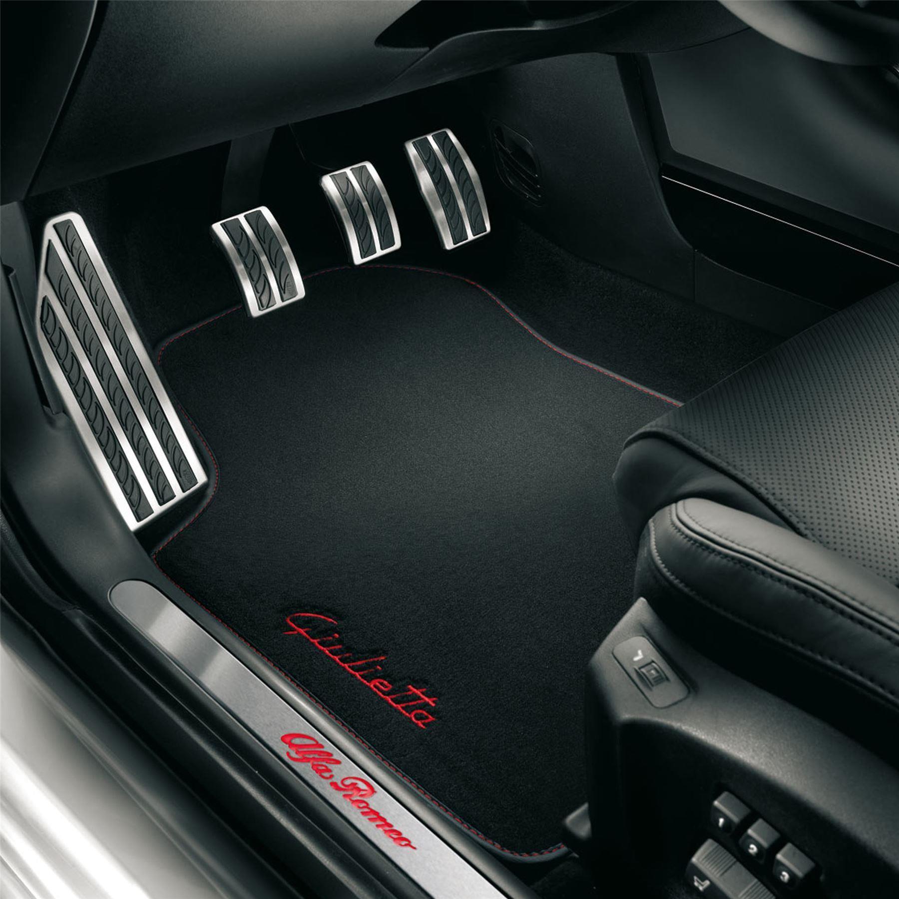 Giulietta Tailored Fitted Carpet Mats Black/Grey - 50903502