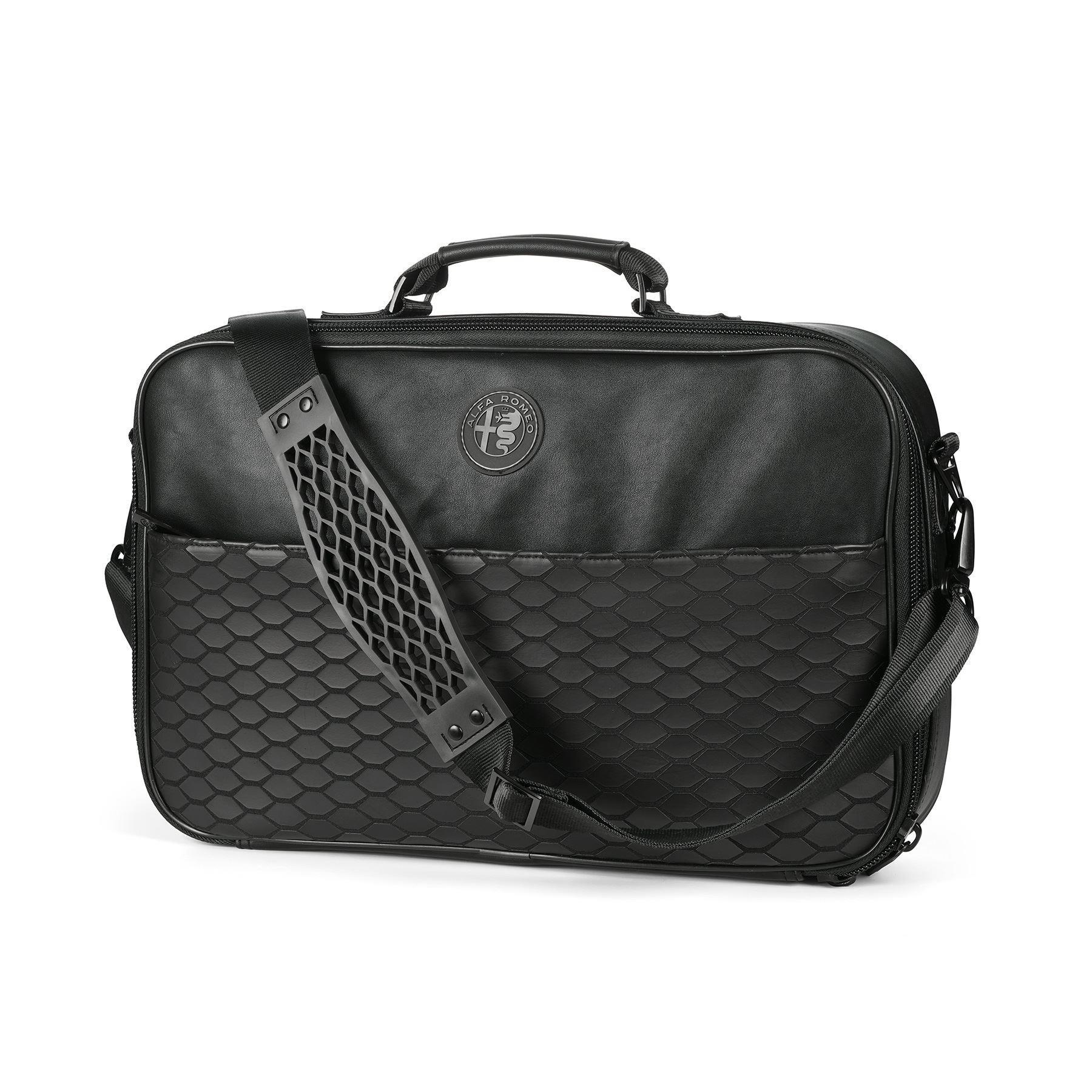 Genuine Alfa Black Shoulder Laptop Bag