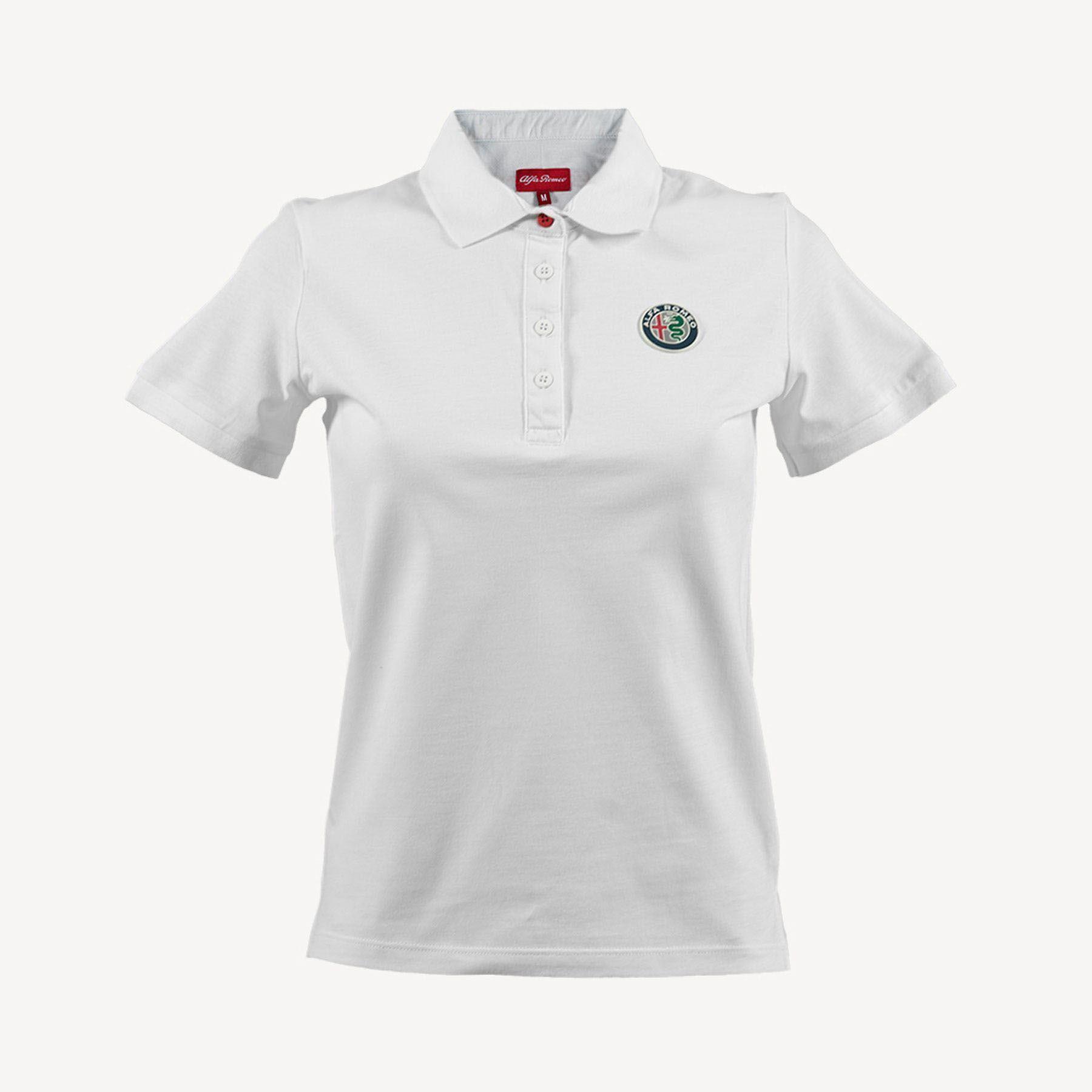 Genuine Alfa White Womens Polo Shirt [Size: XL]