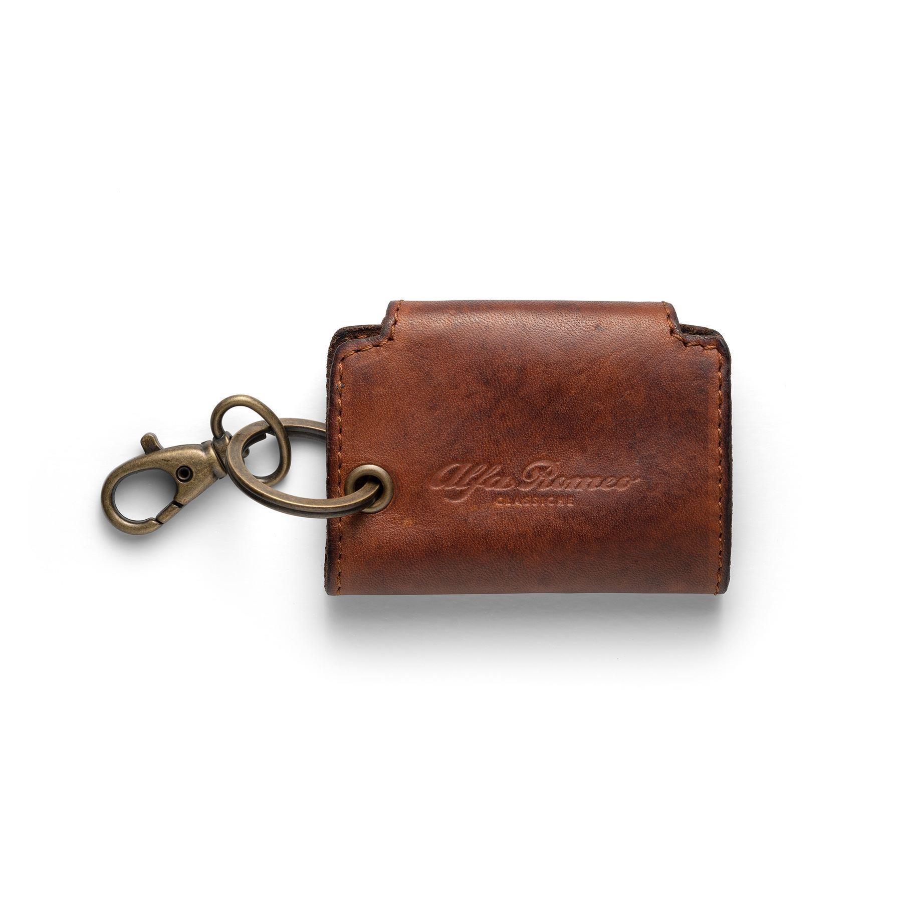 Heritage Logo'd Leather Key Case Keep Safe
