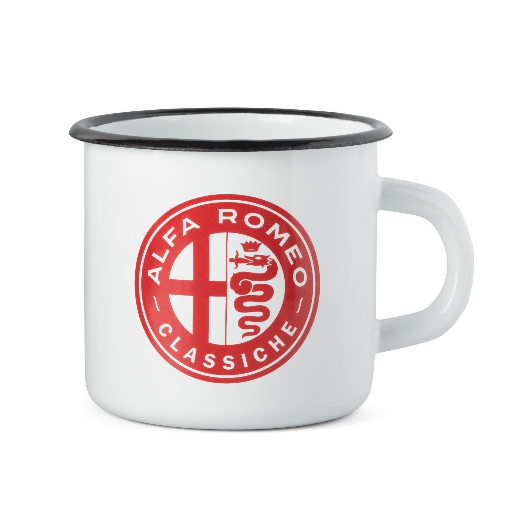 Genuine Alfa White Heritage Enamel Mug