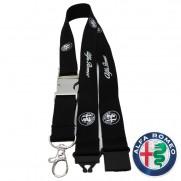Alfa Romeo Black Lanyard