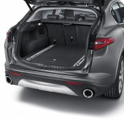 Stelvio Cargo Boot/Storage/Transport Organiser Rail Eyelets