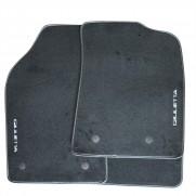 Giulietta Tailored Fitted Black Carpet Mats Black Logo