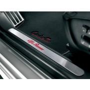 Alfa Giulietta Illuminated Kick Plates with Alfa Romeo Logo - Front