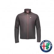 Mens Technical Black Sweatshirt with Alfa Logo Size: Large