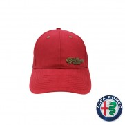 Heritage Red Logo'd Baseball Cap + Retainer Clips