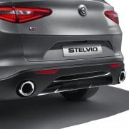 Stelvio Skid Plate Rear Bumper - Dark Maroon - No Tow Bar