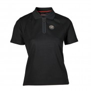 Genuine Alfa Black Womens Polo Shirt [Size: XL]