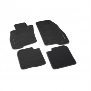 MiTo Tailored Footwell Black Carpet Mats Silver Trim