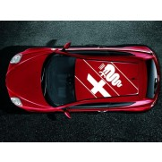 Mito Vintage Roof Bodywork Sticker / Decal - Red - 50903443