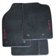 Giulietta Tailored Fitted Black Carpet Mats Red Logo