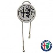 Genuine Alfa Silver Keyring